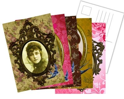 Set of 5 vintage postcards - BohemianSocietyGirl