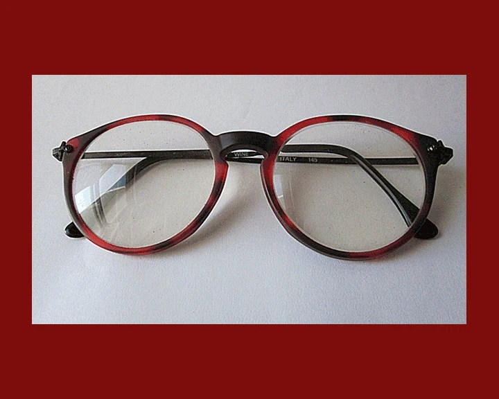 What the Cool Kids Wear--Large Red/Black Glasses,Frame Made in Italy,Vintage Accessories,Unisex - VdeB