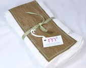 Wood Grain Fabric Burp Cloth Set - MarshMueller