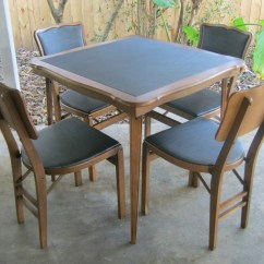 Folding Card Table And Chairs Swing Chair Next Reserved For Catherine Four By Jaybirdsvintageshop