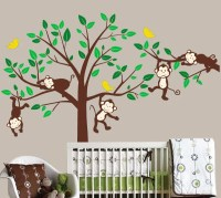 Monkey wall decals kids animal stickers jungle by ...