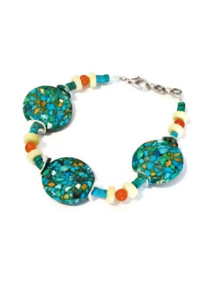Turquoise Boho Bracelet - Bohemian Jewelry