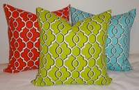 SALE OUTDOOR Pillow Cover Lime Green Blue Red by HomeLiving