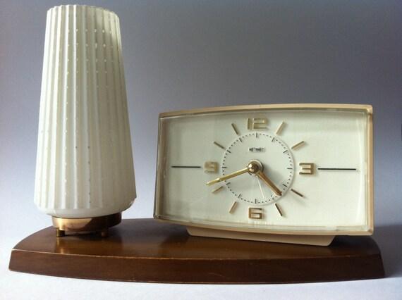 Retro Metamec Combined Alarm clock with bedside lamp