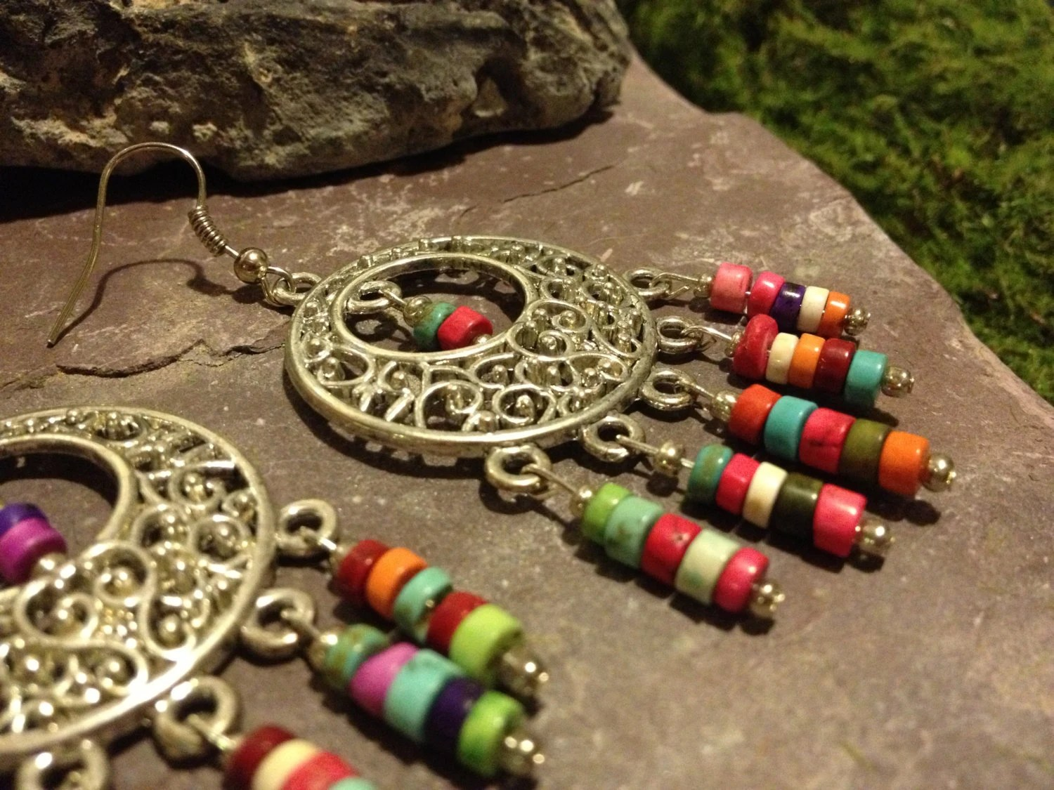 Colorful Bohemian Chandelier Earrings - Bohemian Hippie Jewelry