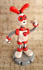 HerArtSheLoves Robot Easter Bunny by RobotsAreAwesome featured artist on Kater's Acres Blog