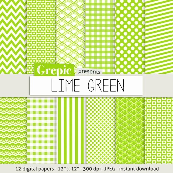 Digital Paper Lime Green Lime Green Digital Paper Pack With