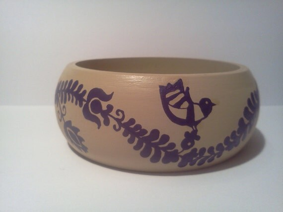 Handpainted WOOD bracelet