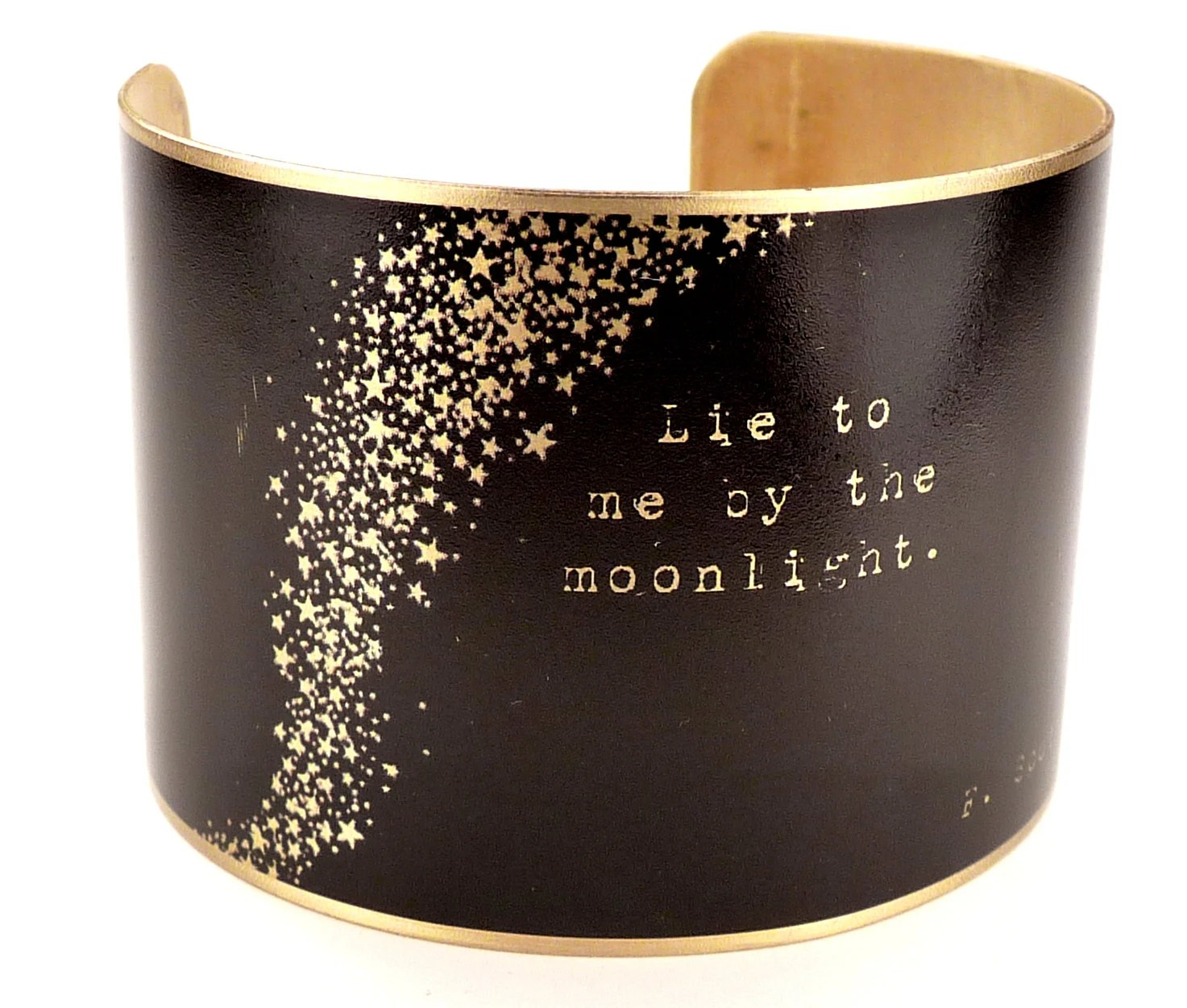 F. Scott Fitzgerald Quote Brass Cuff Bracelet, Literary Jewelry, Classic Literature, Book Quotes