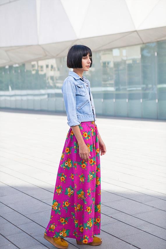 Maxi skirt, long skirt, floral skirt