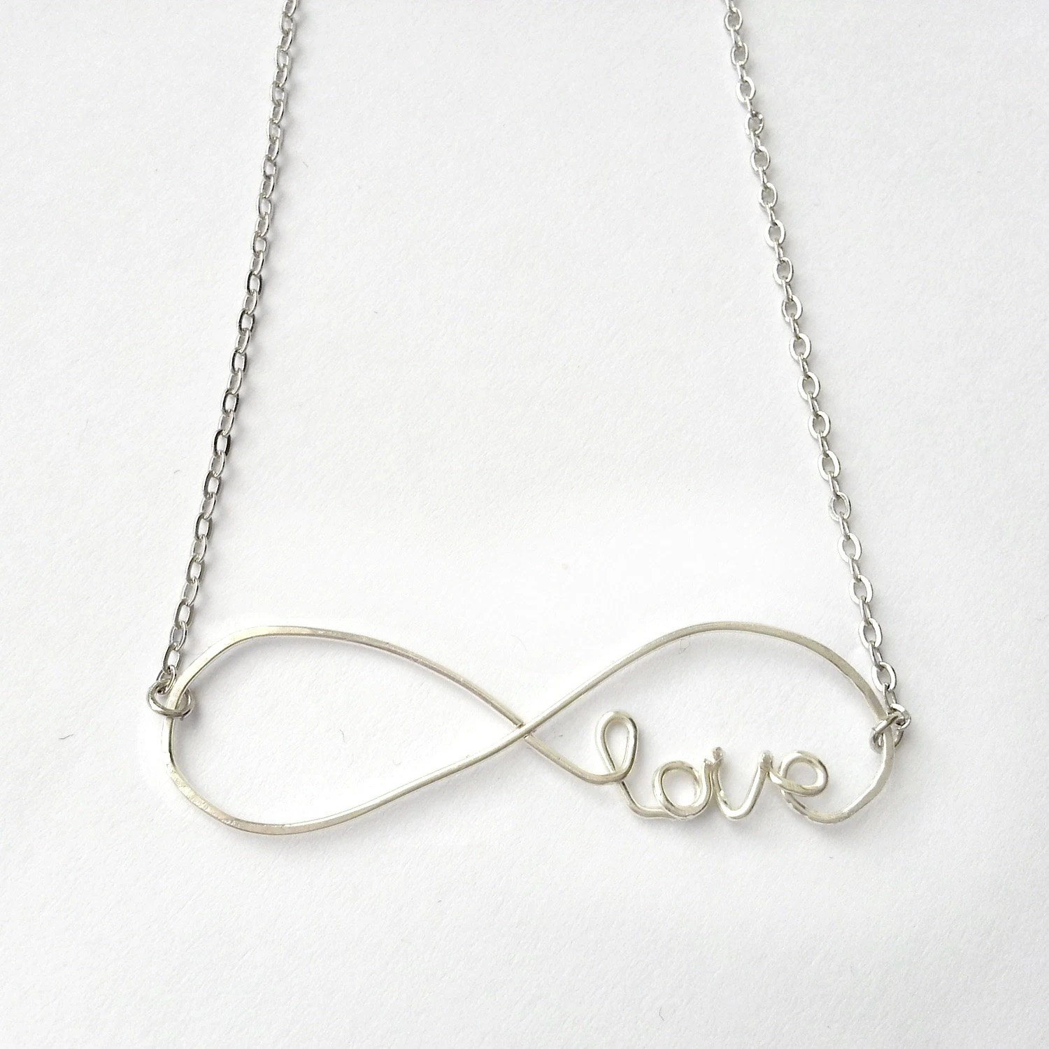 Infinity Love Necklace - Infinite Love Necklace, Cursive Love Necklace, Infinity Jewelry  - 'Forever' - FioreJewellery