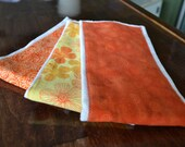Burp Cloths - Set of 3 Bright Fall Colors
