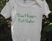 infant baby organic 1-piece onesie also in super soft 100% cotton onesie shirt hippie hand screen printed