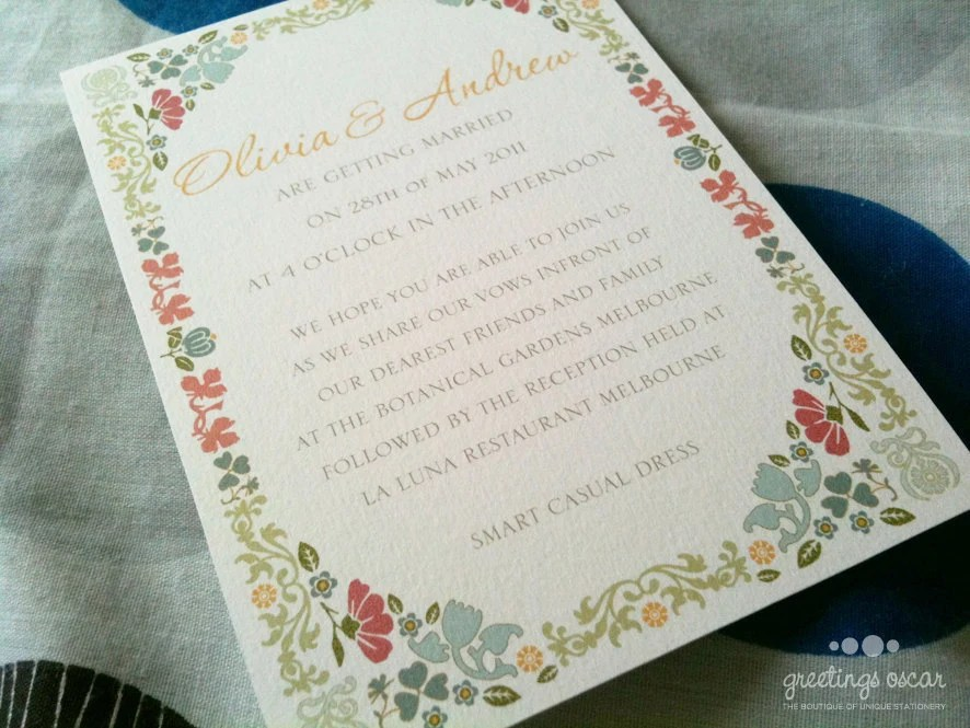 DIY Printable Bohemian Wedding Invitation with RSVP - Aubrey - GreetingsOscar