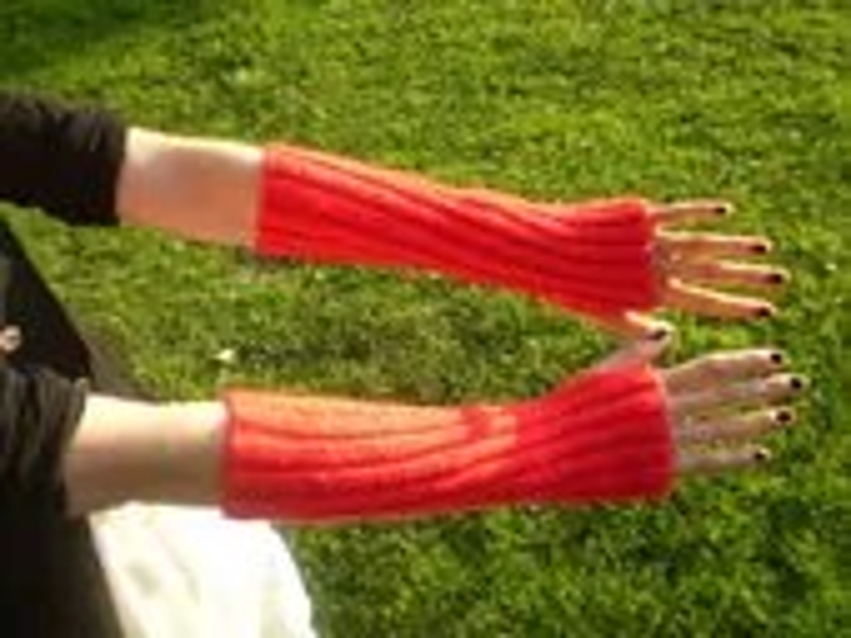 Bright Red Devilish Arm Warmers Unisex (M)