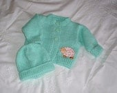 little Cardigan and hat set