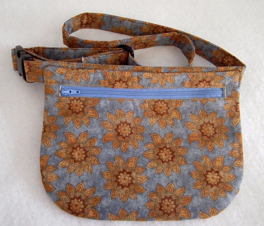 Hip Bag - Suns on Light Blue Background - BonniesSewCrazy