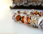 Sunrise/Sunset Themed Beaded Bracelet