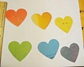 12- Rainbow Paper Hearts