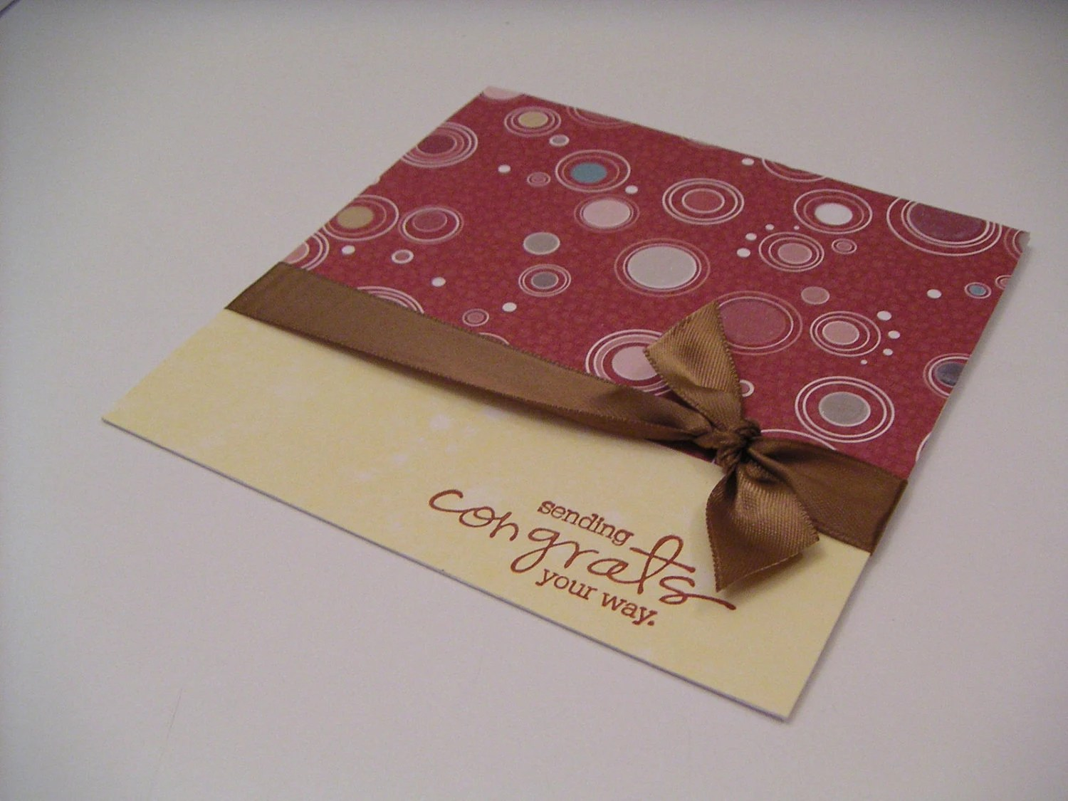 Greeting Card - Congrats - Sparkle Celeberation Dots - Cinnamon Stick, Brown, and Yellow