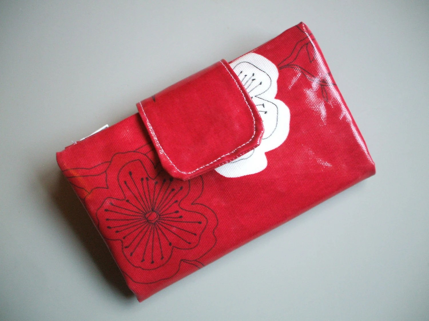 Red Oilcloth Wallet