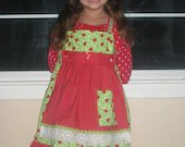 Ladybug Garden Dress with Removable Apron