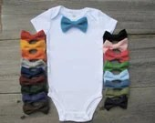 Baby Clothes Bow Tie Onesie - Choose Your Color