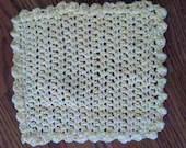 Wash Cloth - Dish Cloth - Handmade - off white