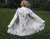 Hand felted wool coat jacket WILD WEST