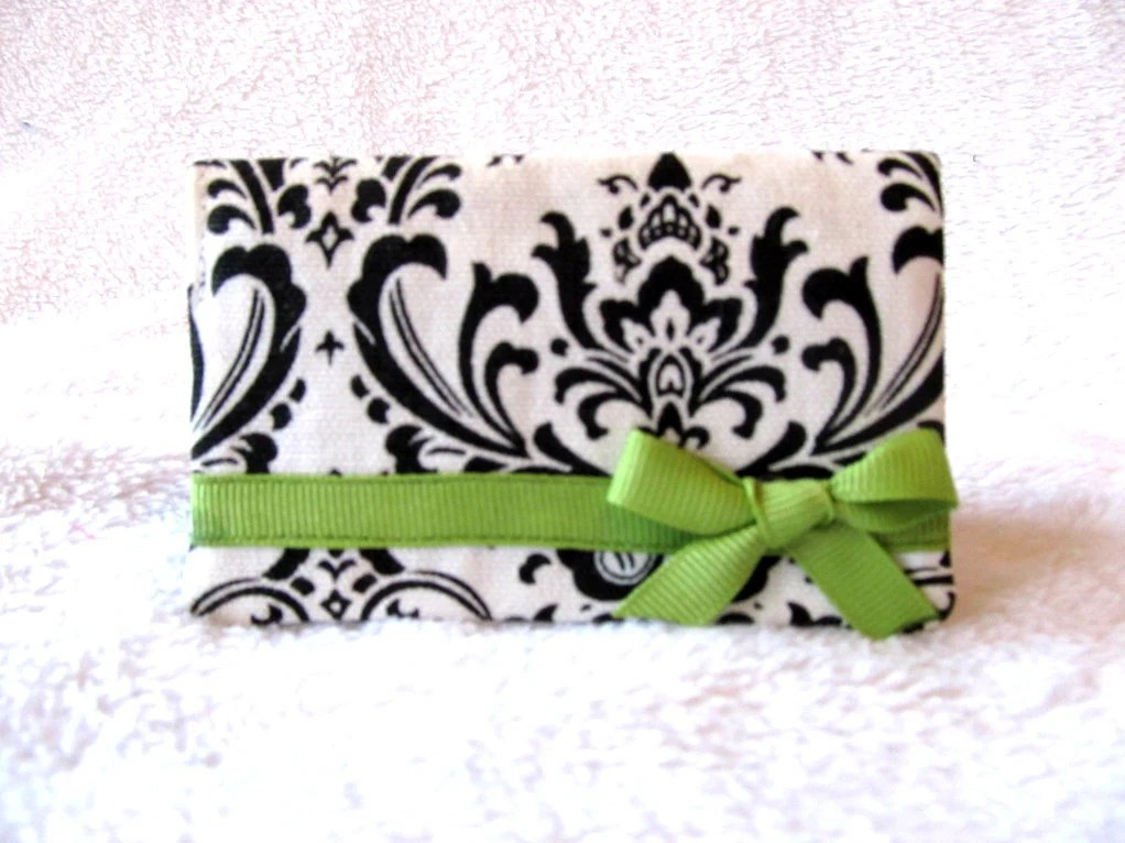 Black and White Damask  business card holder 14% off Coupon Code: HEART
