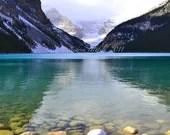 Lake Louise Photography Print 11x14 Fine Art Canadian Rockies Banff Winter Snow Landscape Photography Print.