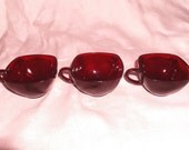 Gorgeous Cranberry Glass Tea/Coffee Cups 3
