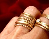 Modern Stacking Gold Ring Handmade - Free Shipping On Orders Over 100  USD