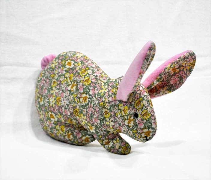 Rabbit - Floral cotton and Pink fleece