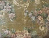 green floral,Victorian wallpaper image,large wooden tag/dresser/door hanger-salvaged wood