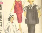 Vintage Maternity Sewing Pattern Three Piece Outfit  Size 12 - Simplicity 3276 - clean and complete