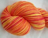 Sunset - Hand dyed Merino Sock Yarn - 100g