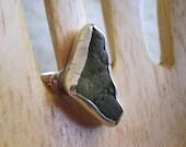 Green Seaglass & Sterling Ring Handmade etsy metal jewelry - JudithGayleDesigns