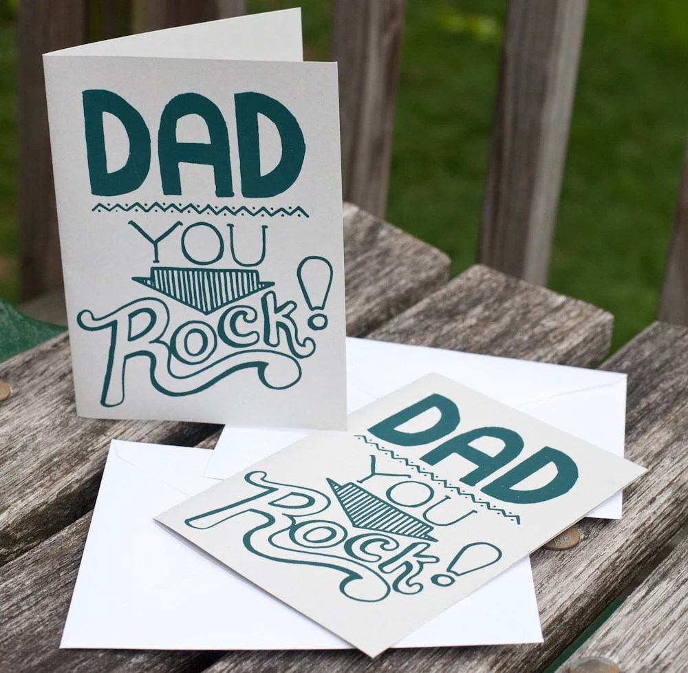 father's day card silkscreen greeting - exit343design