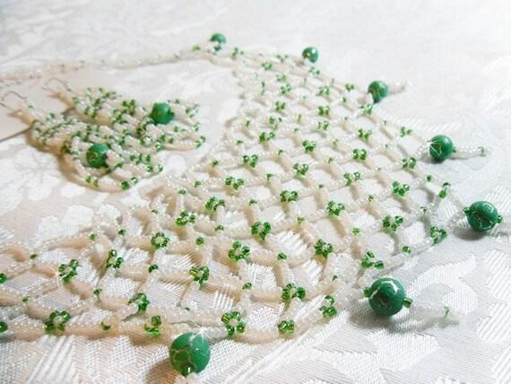 Green necklace & Earrings Set - $24.95