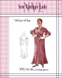 NVL 1930s The Diva Dress 40 bust PLUS SIZE