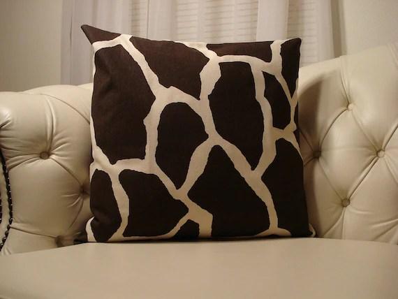 Giraffe Print Pillow Cover and Insert