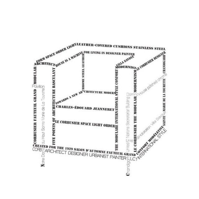 Le Corbusier Chair in Words - Art Print