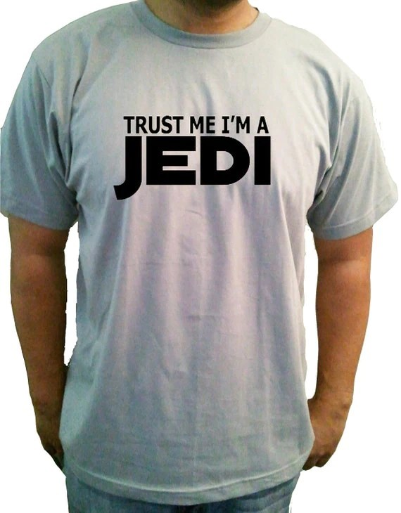 Trust Me I'm a Jedi Star Wars Mens Grey Tshirt Small Medium Large XL 2XL