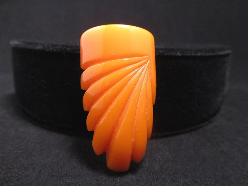 Classic Art Deco Bakelite Dress Clip from AgeofPlastic  on Etsy