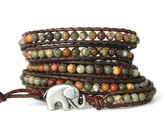 good luck elephant wrap bracelet by theluckyelephant on etsy