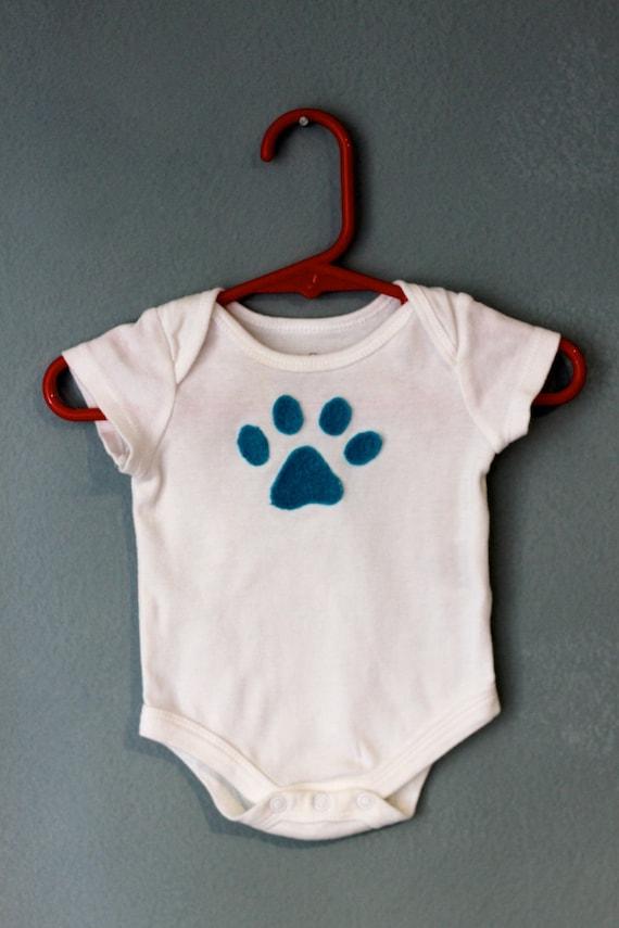 Dog Paw Print Baby Bodysuit Onesie