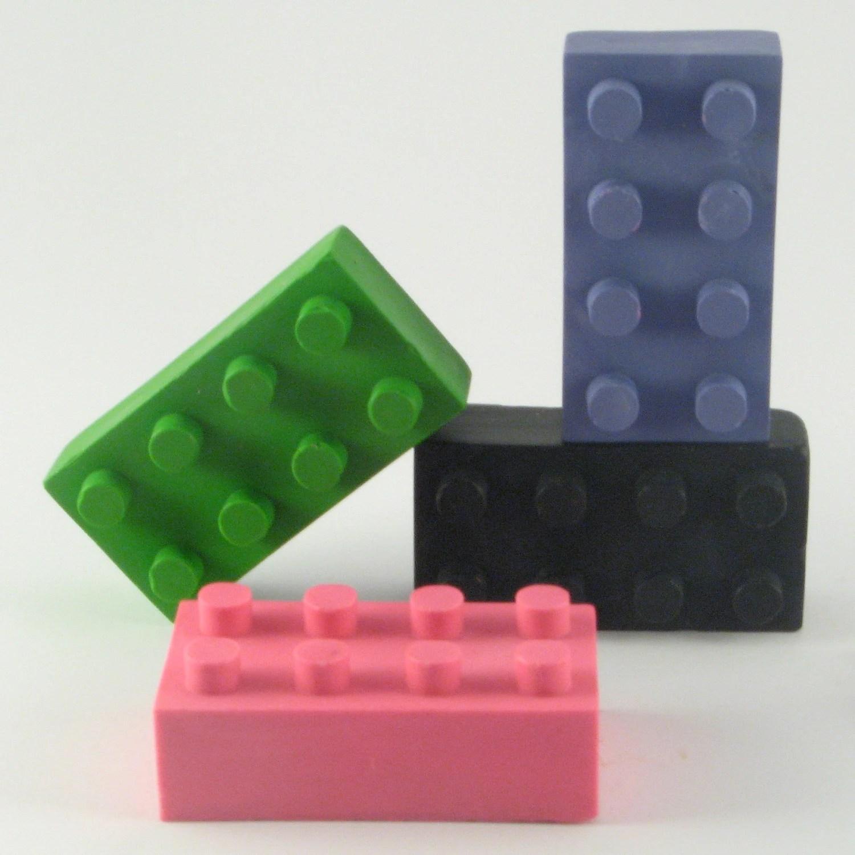 Brick shaped crayons - just keep building, just keep building