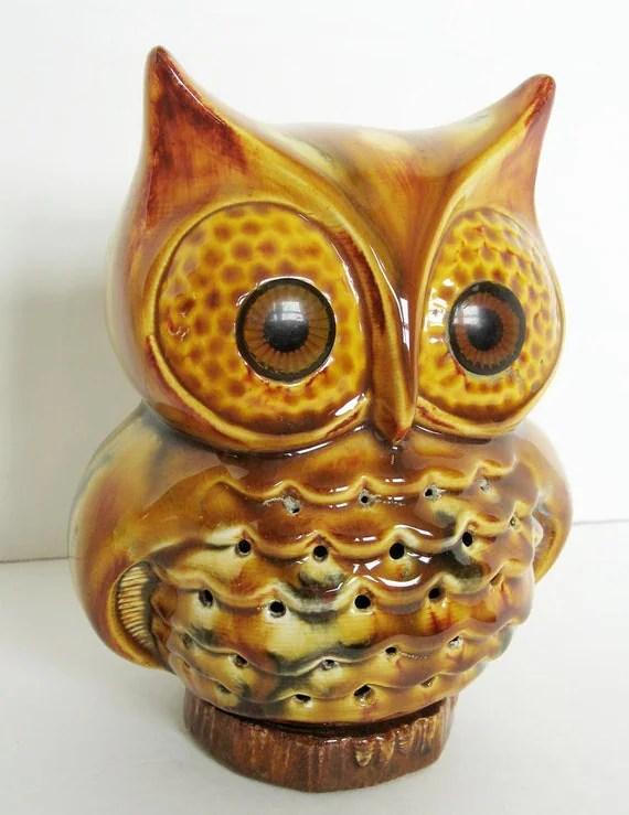 Ceramic owl night light from hootandeye