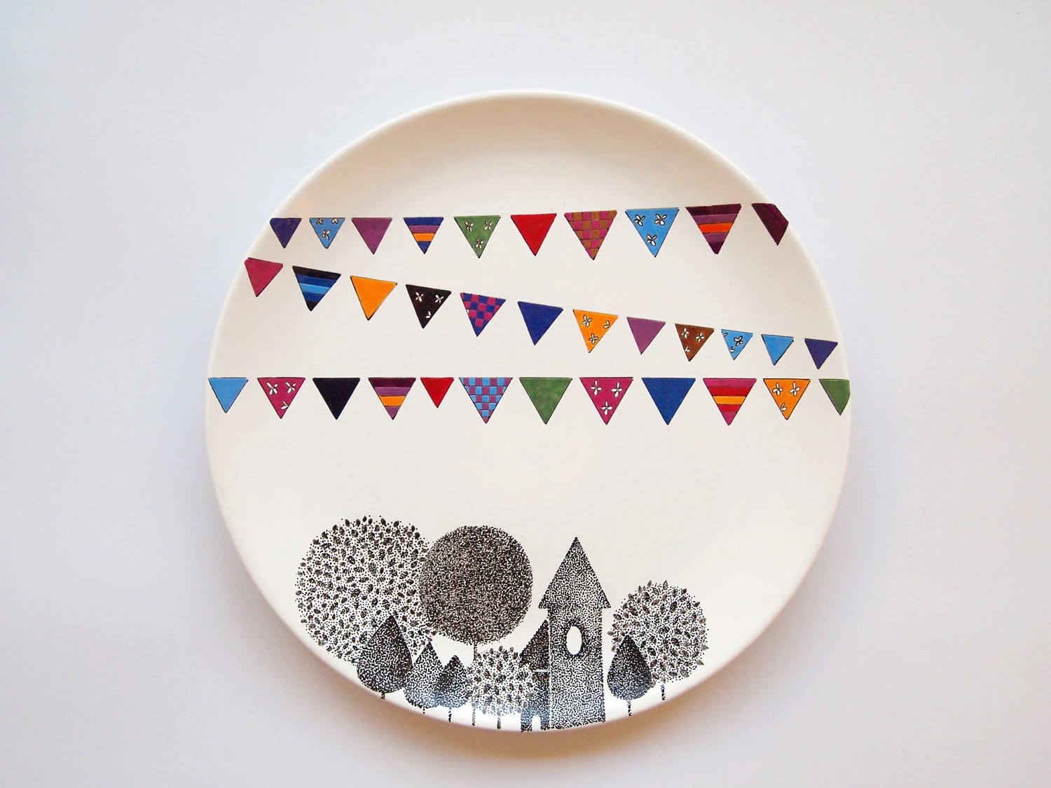 Village Wall Plate by ZuppaAtelier